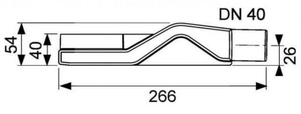 Tece Drainline kolano odpływowe z syfonem 67mm 6 500 04