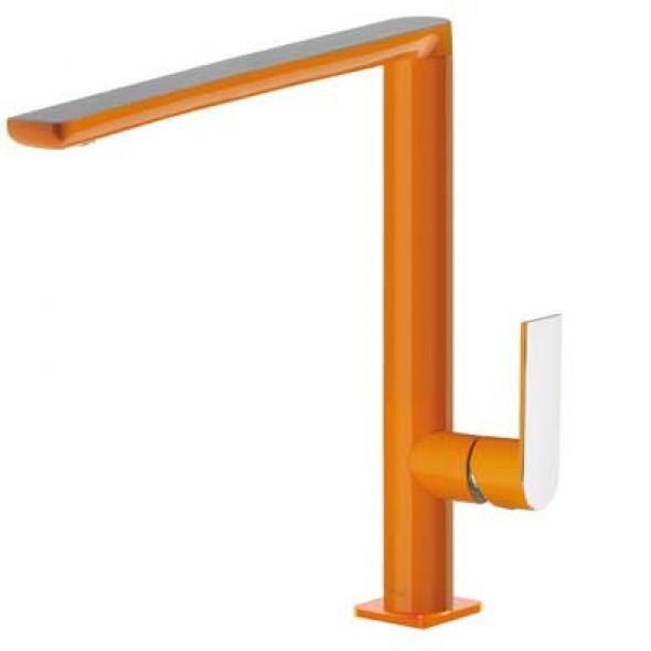 Tres Loft-Colors bateria kuchenna zlewozmywakowa stojąca pomarańczowy/chrom 200.440.01.NA