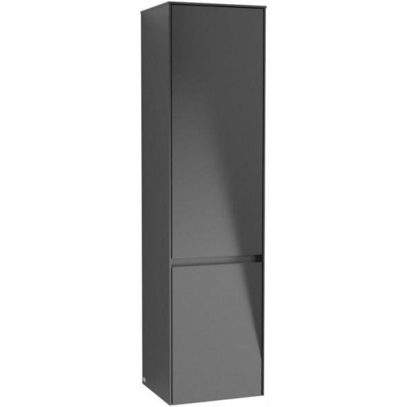 Villeroy&Boch Collaro szafka wysoka słupek łazienkowy 40x153x35 cm zawiasy z lewej strony Black Matt Lacquer C03300PD