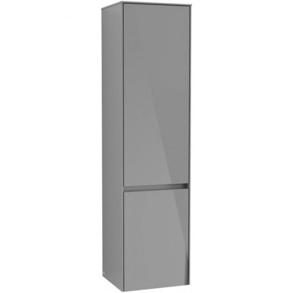 Villeroy&Boch Collaro szafka wysoka słupek łazienkowy 40x153x35 cm zawiasy z lewej strony Glossy Grey C03300FP