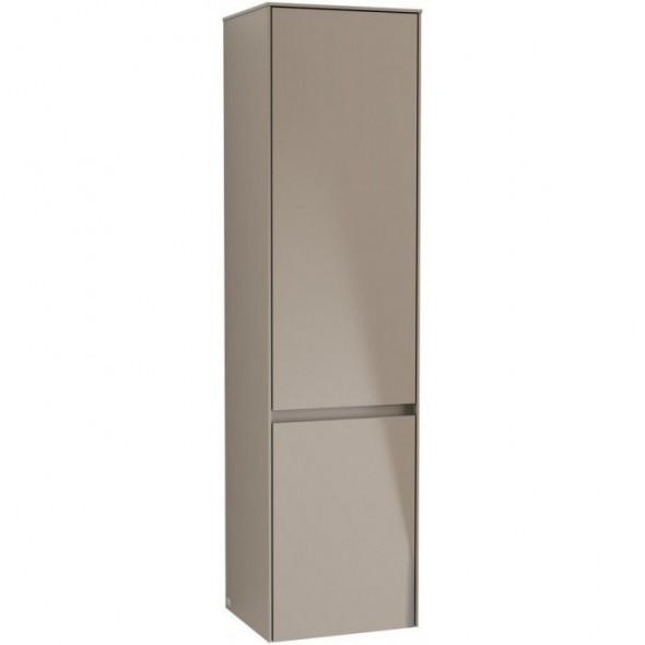 Villeroy&Boch Collaro szafka wysoka słupek łazienkowy 40x153x35 cm zawiasy z lewej strony Truffle Grey C03300VG