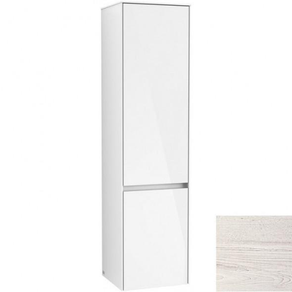 Villeroy&Boch Collaro szafka wysoka słupek łazienkowy 40x153x35 cm zawiasy z lewej strony White Wood C03300E8