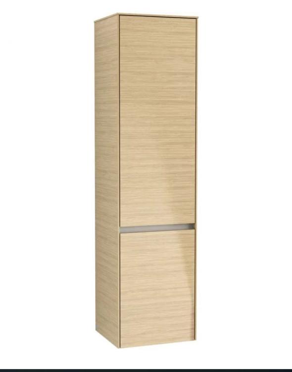 Villeroy&Boch Collaro szafka wysoka słupek łazienkowy z oświetleniem LED 40x153x35 cm zawiasy z lewej strony Nordic Oak C033L0VJ