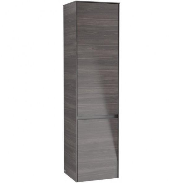 Villeroy&Boch Collaro szafka wysoka słupek łazienkowy z oświetleniem LED 40x153x35 cm zawiasy z lewej strony Oak Graphite C033L0FQ