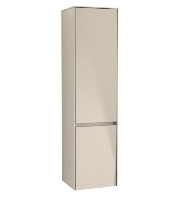 Villeroy&Boch Collaro szafka wysoka słupek łazienkowy z oświetleniem LED 40x153x35 cm zawiasy z lewej strony Soft Grey C033L0VK