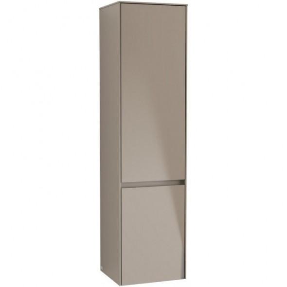 Villeroy&Boch Collaro szafka wysoka słupek łazienkowy z oświetleniem LED 40x153x35 cm zawiasy z lewej strony Truffle Grey C033L0VG