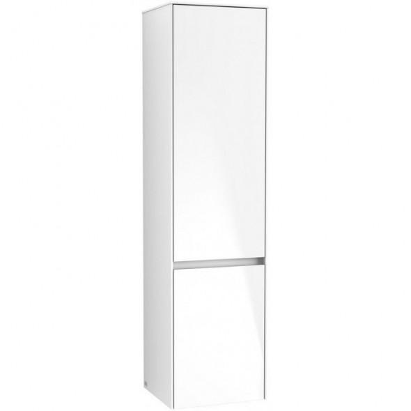 Villeroy&Boch Collaro szafka wysoka słupek łazienkowy z oświetleniem LED 40x153x35 cm zawiasy z lewej strony White Matt C033L0MS