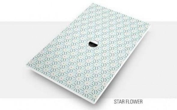 Villeroy&Boch Subway Infinity brodzik kwadratowy 90x90 Star Flower 6228H4VPD0