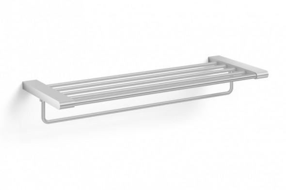 ZACK Atore półka łazienkowa z relingiem 64 cm stal nierdzewna polerowana 40472