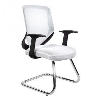 Krzesło biurowe MOBI SKID Unique Biały  ✂ Zapytaj o RABAT! ✂️