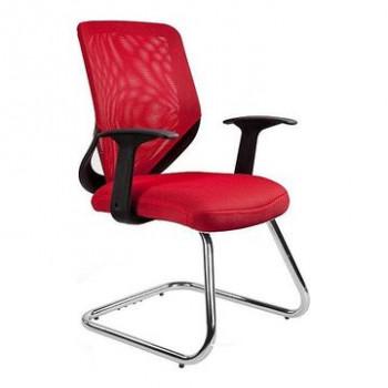 Krzesło biurowe MOBI SKID Unique Czerwony  ✂ Zapytaj o RABAT! ✂️