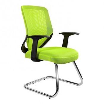 Krzesło biurowe MOBI SKID Unique Limonkowy  ✂ Zapytaj o RABAT! ✂️