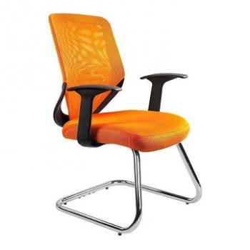 Krzesło biurowe MOBI SKID Unique Pomarańczowy  ✂ Zapytaj o RABAT! ✂️