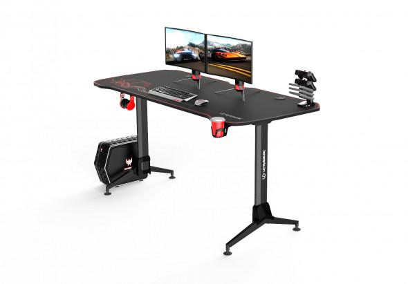 Biurko GRAND czerwone gamingowe ☞ Kupuj w Sprawdzonych i wysoko Ocenianych sklepach