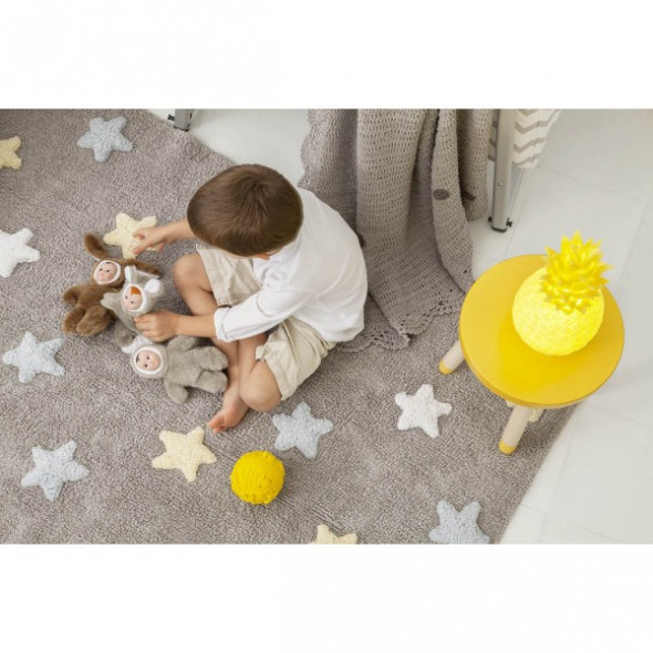 Dywan dziecięcy TRICOLOR STAR 120x160 szary/niebieski ☞ Kupuj w Sprawdzonych i wysoko Ocenianych sklepach