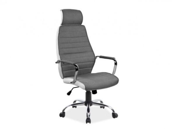 Fotel biurowy Q-035 szary ☞ Kupuj w Sprawdzonych i wysoko Ocenianych sklepach