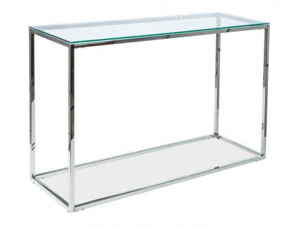 Konsola HILTON C 120x40 srebrna ☞ Kupuj w Sprawdzonych i wysoko Ocenianych sklepach