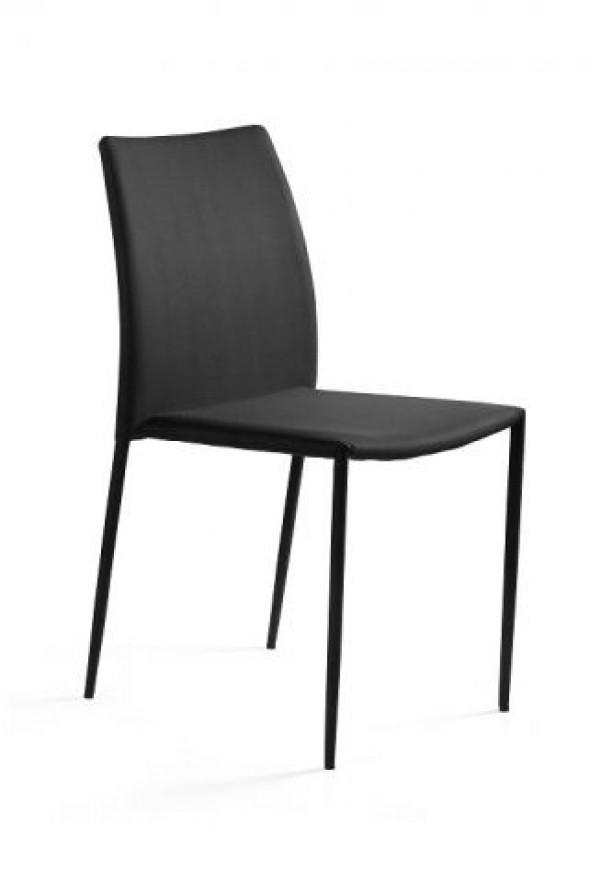 Krzesło DESIGN czarne tkanina ☞ Kupuj w Sprawdzonych i wysoko Ocenianych sklepach