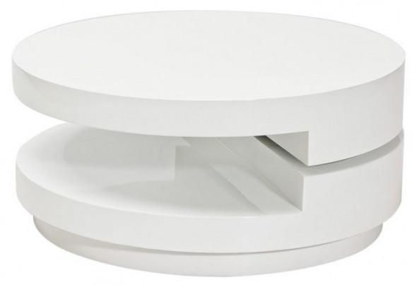 Ława FABIOLA 80x80 biały połysk ☞ Kupuj w Sprawdzonych i wysoko Ocenianych sklepach