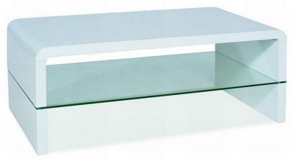 Ława RICA 110x60 biały połysk ☞ Kupuj w Sprawdzonych i wysoko Ocenianych sklepach