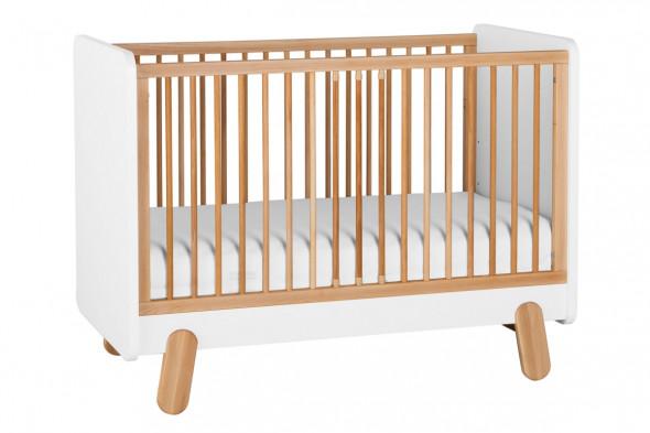 Łóżeczko IGA 120x60 białe/buk ☞ Kupuj w Sprawdzonych i wysoko Ocenianych sklepach