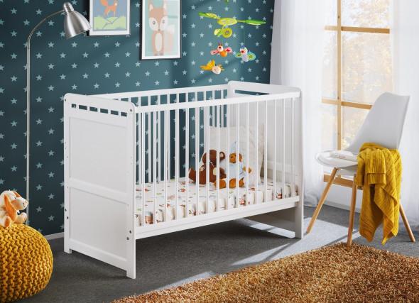 Łóżeczko TYMEK 120x60 biały mat ☞ Kupuj w Sprawdzonych i wysoko Ocenianych sklepach