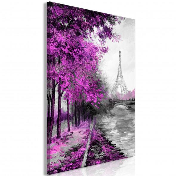 Obraz - Paryski kanał (1-częściowy) pionowy różowy ☞ Kupuj w Sprawdzonych i wysoko Ocenianych sklepach