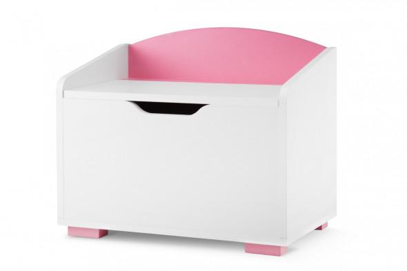 Skrzynia PABIS biała/różowa ☞ Kupuj w Sprawdzonych i wysoko Ocenianych sklepach