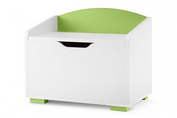 Skrzynia PABIS biała/zielona ☞ Kupuj w Sprawdzonych i wysoko Ocenianych sklepach