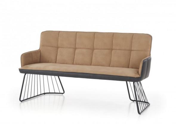 Sofa L1 jasny brąz ☞ Kupuj w Sprawdzonych i wysoko Ocenianych sklepach
