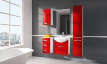 Zestaw mebli łazienkowych KORAL II czerwony ☞ Kupuj w Sprawdzonych i wysoko Ocenianych sklepach