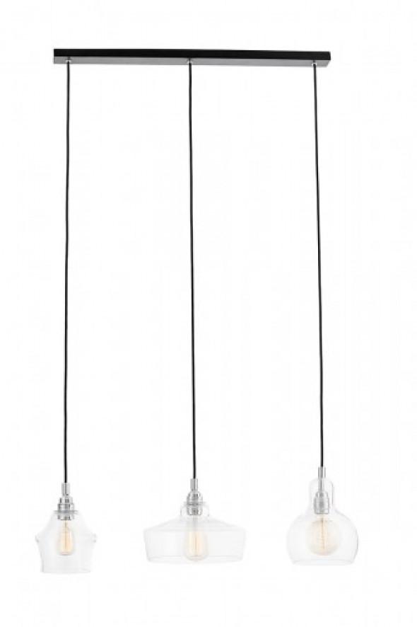 Longis lampa wisząca 3-punktowa czarna (przewód czarny) 10522309