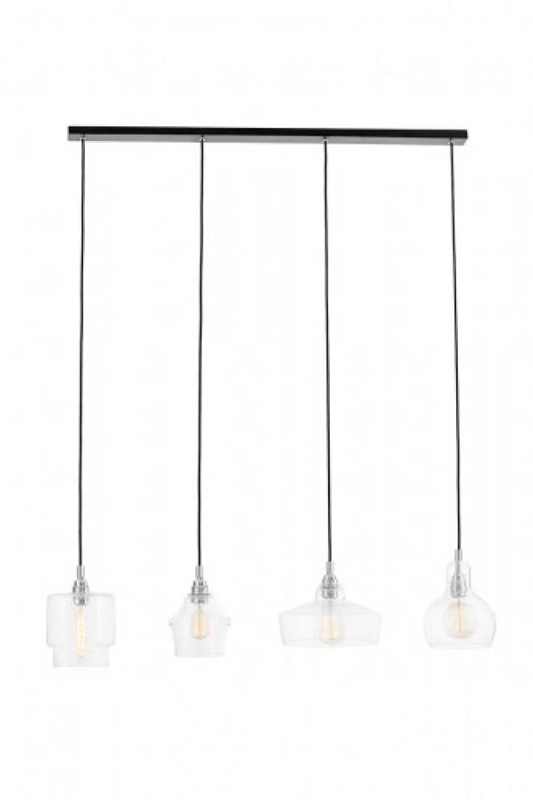 Longis lampa wisząca 4-punktowa czarna (przewód czarny) 10524409