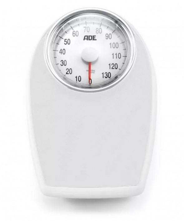 Ade Victoria - duża mechaniczna waga łazienkowa z powierzchnią antypoślizgową biała