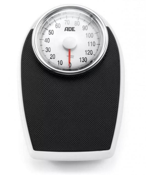 Ade Victoria - duża mechaniczna waga łazienkowa z powierzchnią antypoślizgową czarna