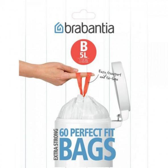 Brabantia Worki na śmieci B poj. 3-5l  60 szt. BR 34-89-69
