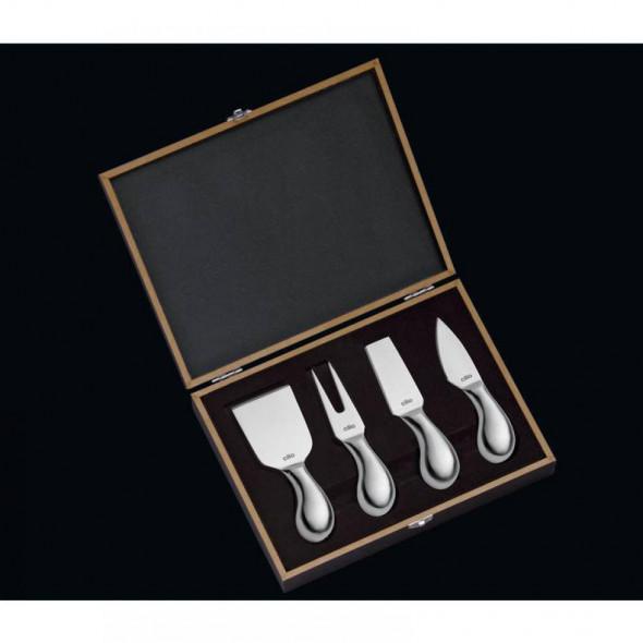 Cilio Zestaw 4 noży do sera Piave eleganckie pudełko prezentowe CI-294804