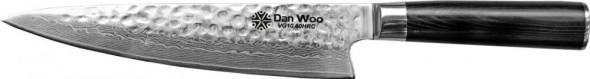 Dan Woo nóż szefa kuchni młotkowany twardość 60HRC--VG10-SZEF_P