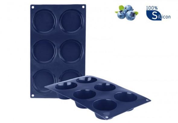Ibili Forma Silikonowa do 6 muffinek babeczek Blueberry 29x17 cm 870012