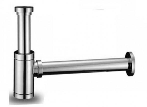 Syfon / półsyfon butelkowy umywalkowy mosiężny chrom-chromowany