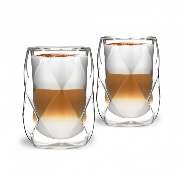Vialli Design 2 szklanki izolowane podwójne ścianki GEO  250 ml. _27572