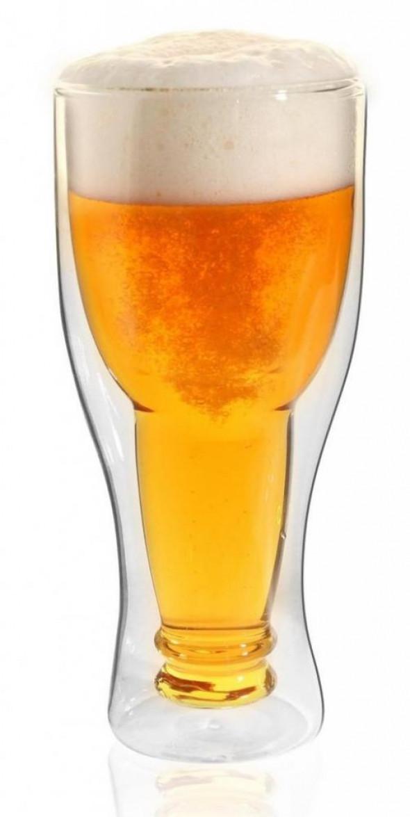 Vialli Design szklanka do piwa izolowana podwójne ścianki Amo 350 ml. 5901638720313 __