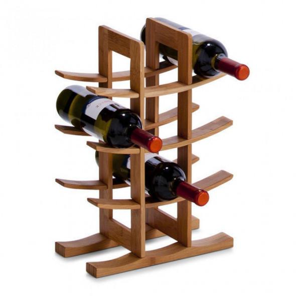 Zeller Półka regał  stojak na wino bambusowy 13580