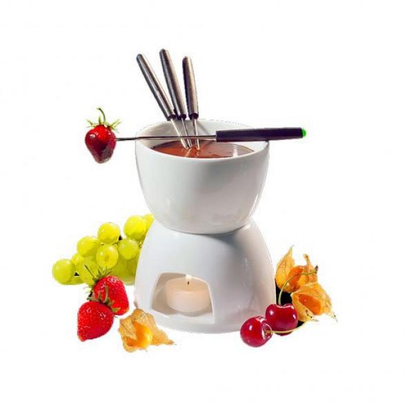 Zestaw do fondue czekoladowego na 4 os. biały Cilio CI-104417