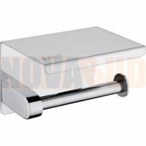 Deante Round Uchwyt na papier toaletowy z półką, ścienny chrom ADR 0221
