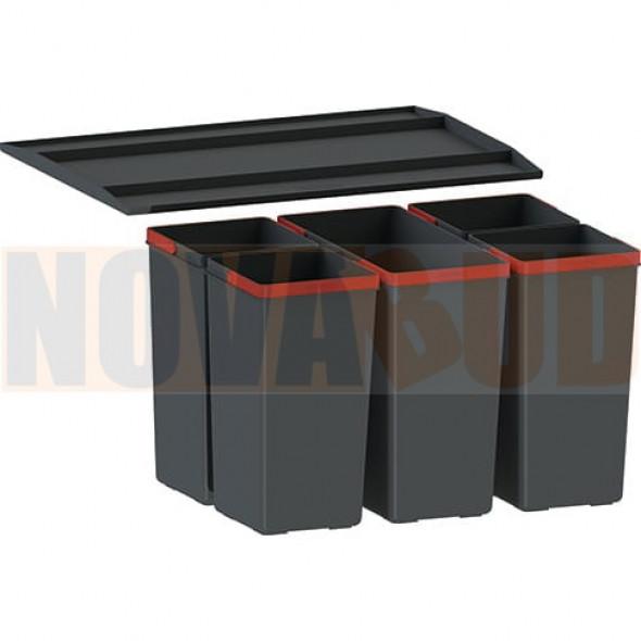 FRANKE EasySort 600-1-4 Sortownik odpadów z półką, 5 pojemników 121.0494.194