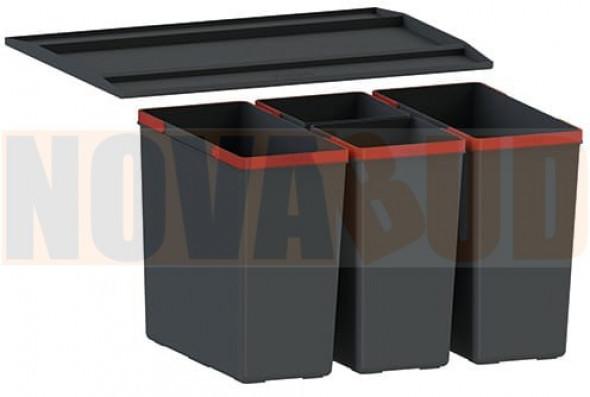 FRANKE EasySort 600-2-2 Sortownik odpadów z półką, 4 pojemniki 121.0494.193