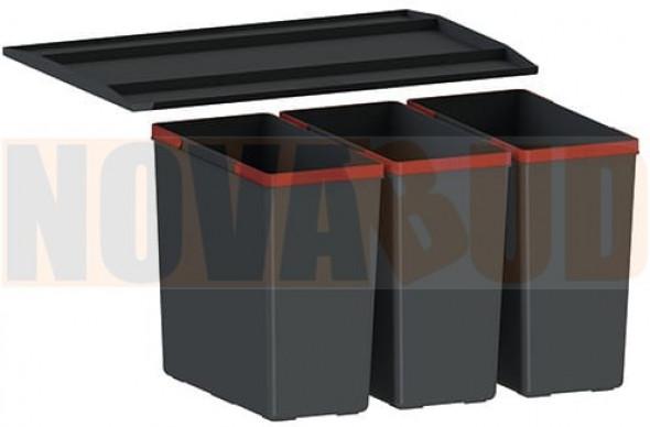 FRANKE EasySort 600-3-0 Sortownik odpadów z półką, 3 pojemniki 121.0494.192