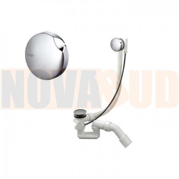 Viega Simplex 61684PL komplet odpływowo - przelewowy do wanien i wysokich brodzików (syfon wannowy) 495121