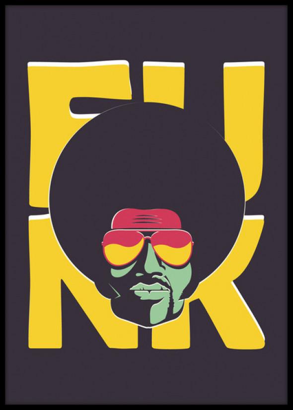 Plakat The Funk Happens 40x50cm